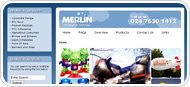 Website Design for Merlin Inflatables